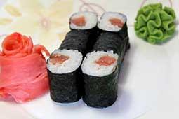 Ваши Суши  Ролл с копчёным лососем (6шт)