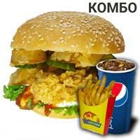 KIM CHICKEN  Чикенбургер (большой, комбо) + 500 тг