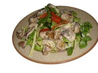 Pizza House  Салат из куриной печени с шампиньонами